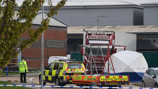 Thirty-nine bodies have been found in a lorry container in Essex, police have said
