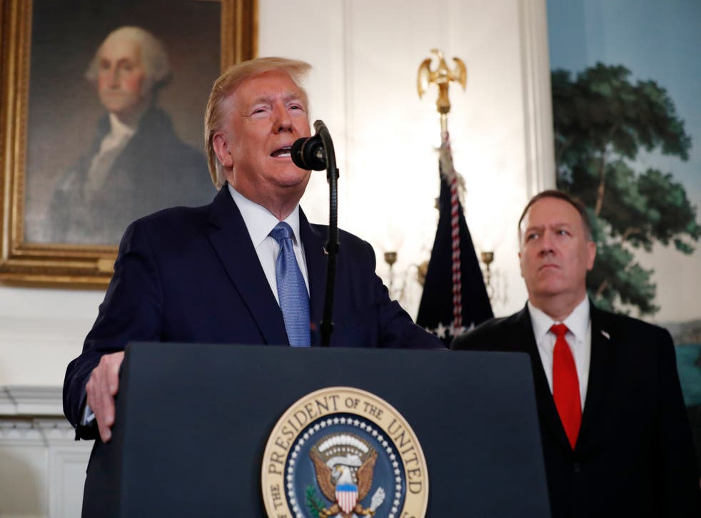 Donald Trump and Mike Pompeo at the White House in Washington, October 2019
