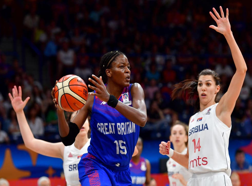 Britain's Temi Fagbenle during the Women's Eurobasket 2019 third-place match