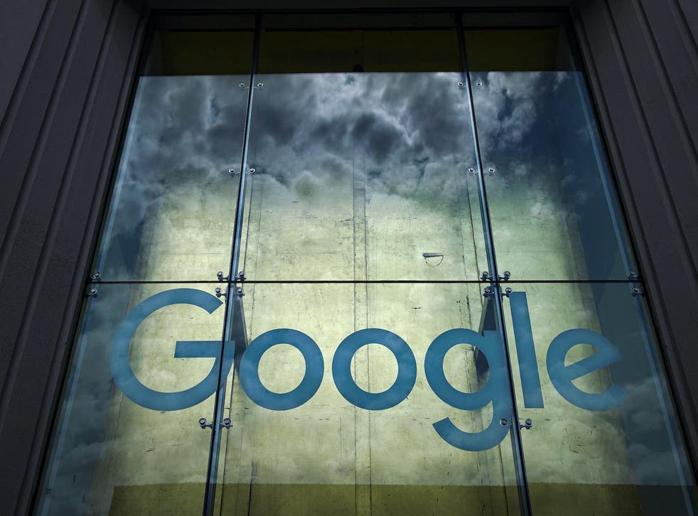 The Google logo adorns the outside of their NYC office Google Building 8510 at 85 10th Ave on June 3, 2019 in New York City