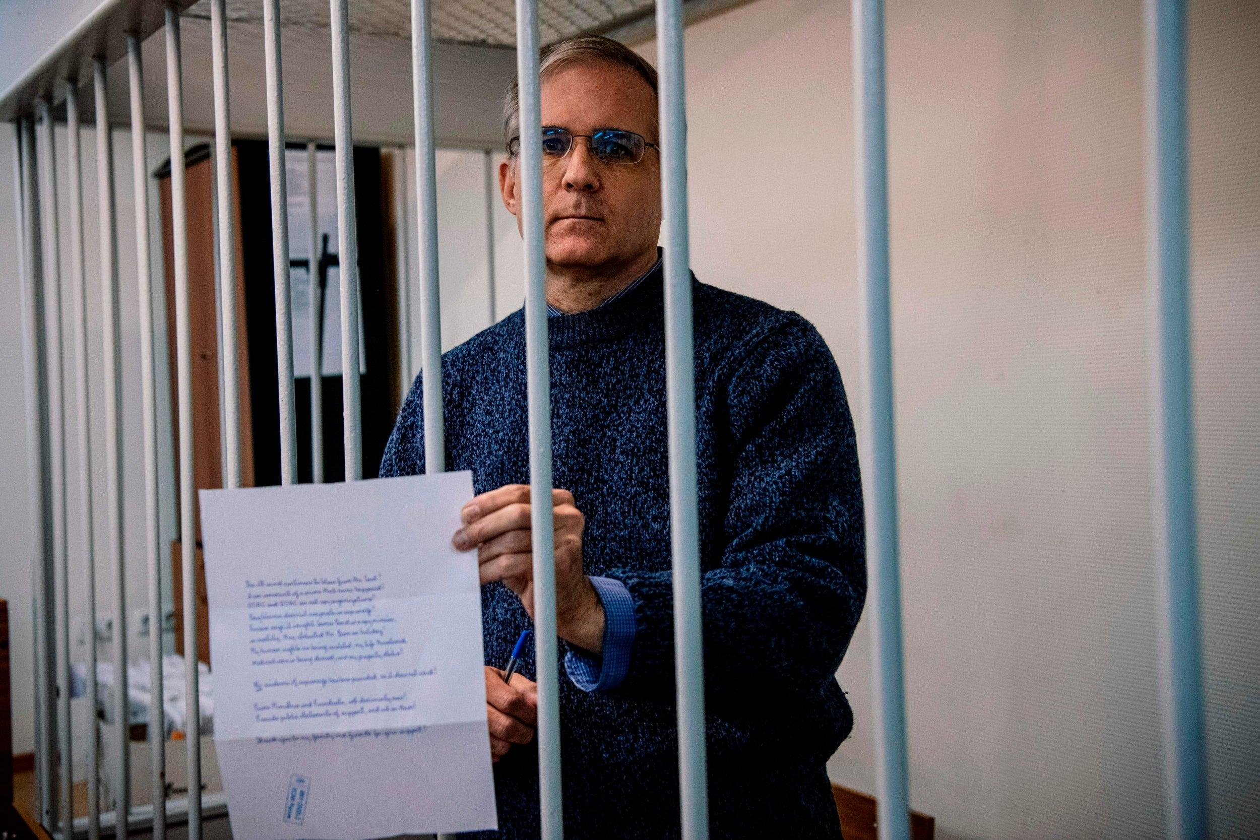 Paul Whelan: Russian prosecutors demand 18 years in jail for US marine accused of spying thumbnail