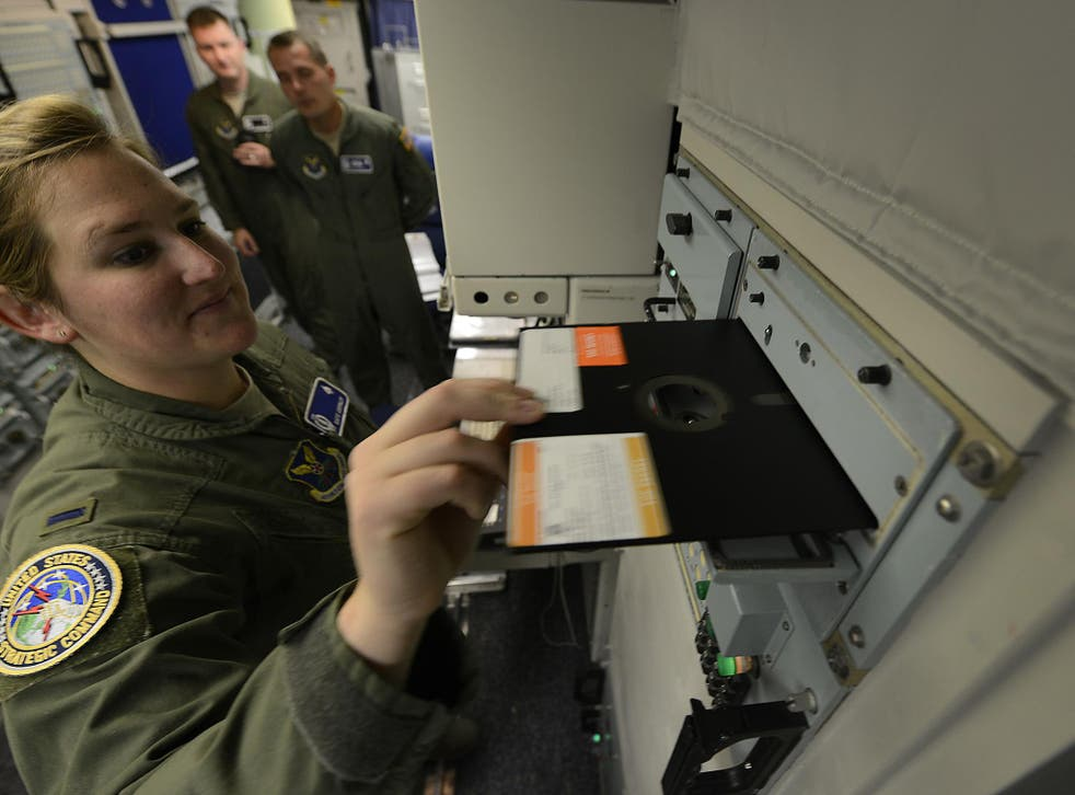 Obsolete technology in use at the Malmstrom Air Force Base in 2014