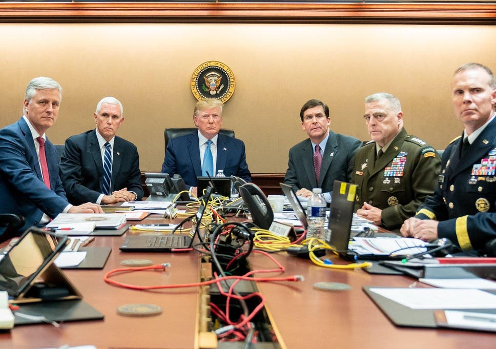 Image result for trump situation room images