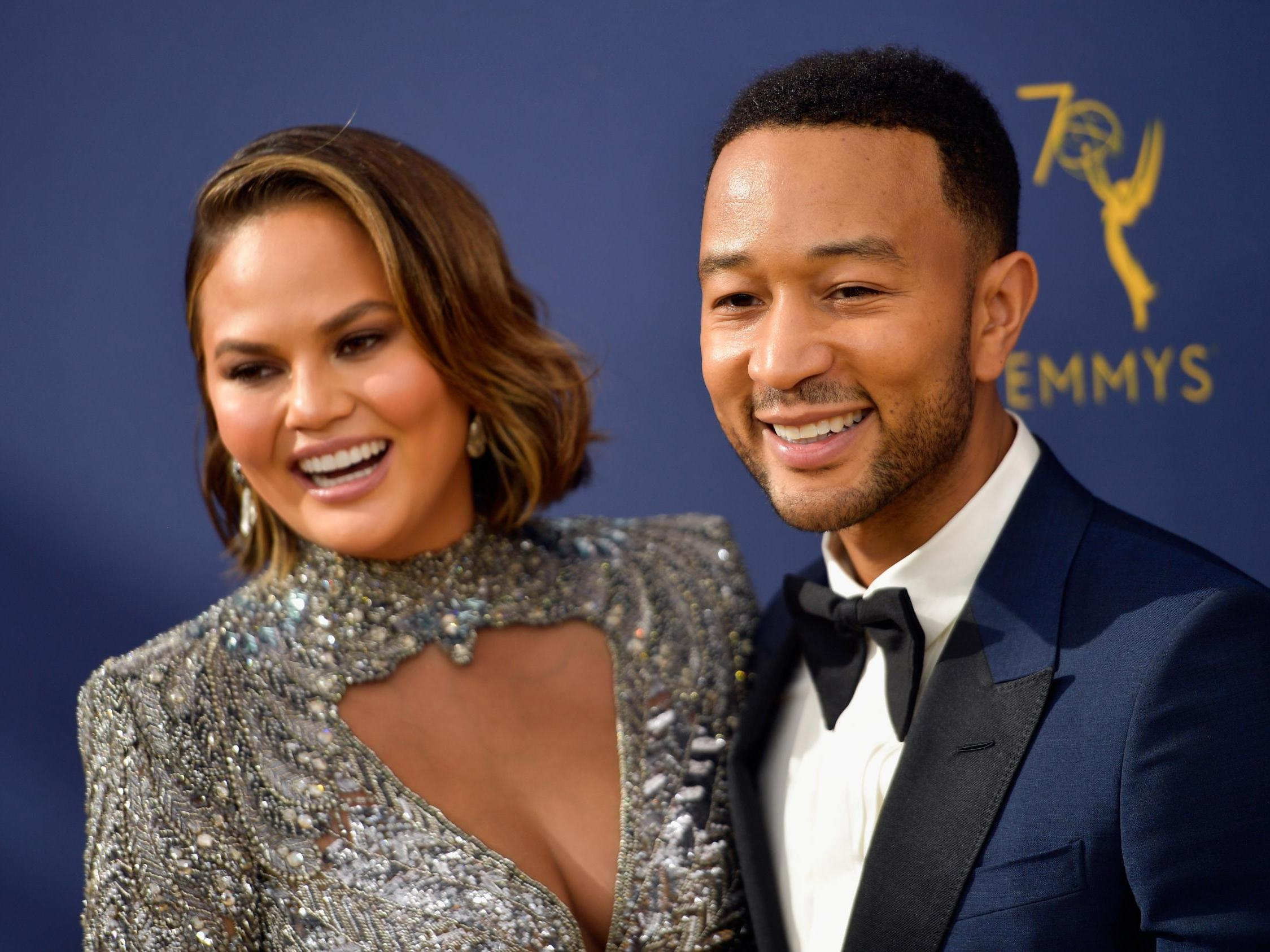 Chrissy Teigen says 'whole' Trump family deserve jail time as John Legend brands president 's****y human being'