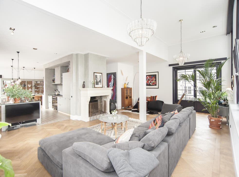 Stay in this three-bedroom loft in the centre of Amsterdam