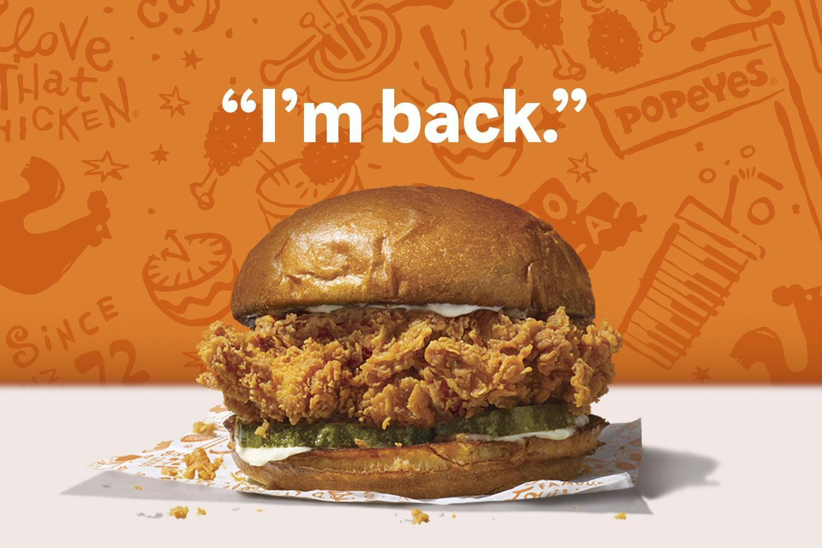Popeyes announces return date of fried chicken sandwich after completely selling out 1