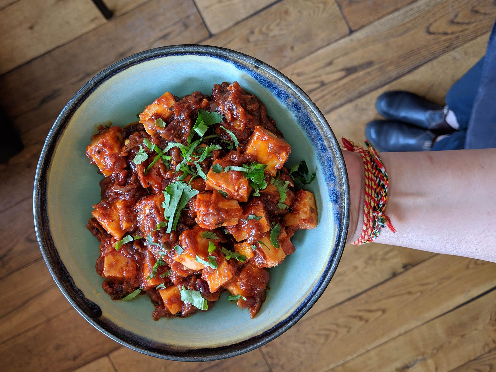 How to make Romy Gill's chilli paneer 1