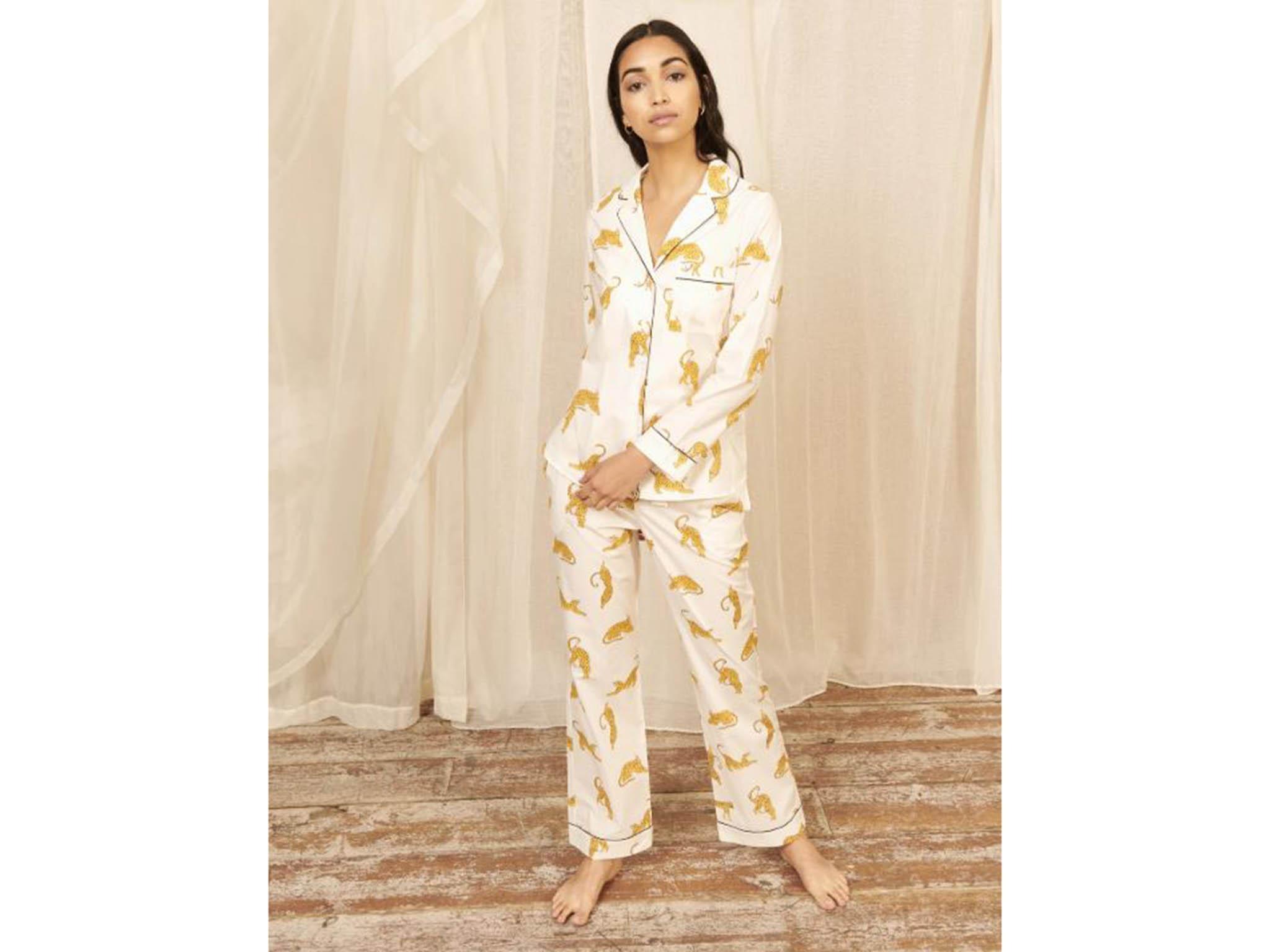 Red Leaf Indian Print 100/% COTTON Soft pyjamas Womens Pyjama Set