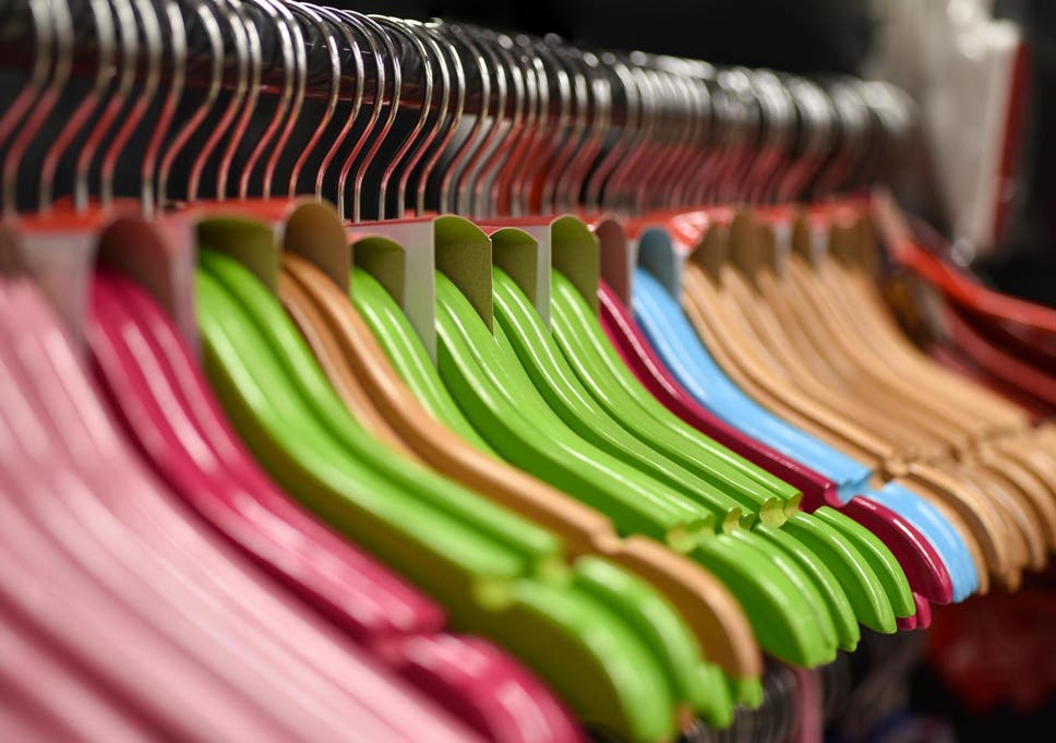 Designer says hangers are the 'plastic straws' of the fashion industry (Stock)
