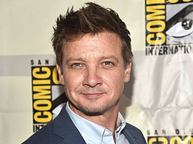 Jeremy Renner at the San Diego Comic Con in July 2019