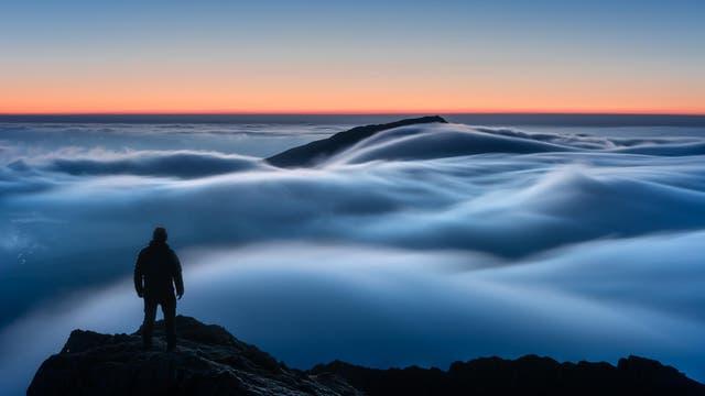 Temperature Inversion/cloud inversion in Snowdonia at dawn. WINNER