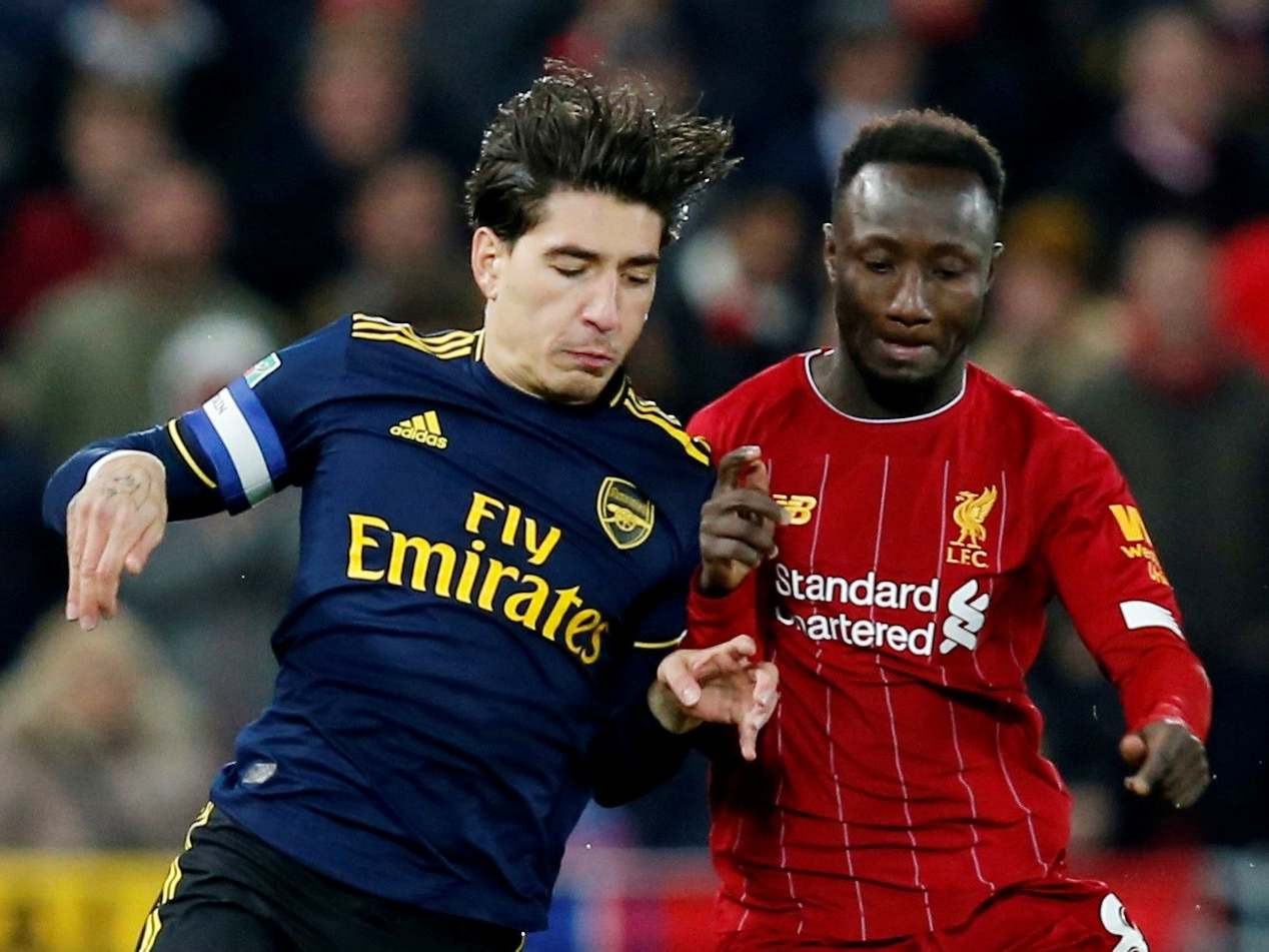 Liverpool Vs Arsenal Hector Bellerin On The Positives To Take From Gunners Carabao Cup Defeat