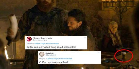 Game Of Thrones Emilia Clarke Reveals Culprit In Coffee Cup