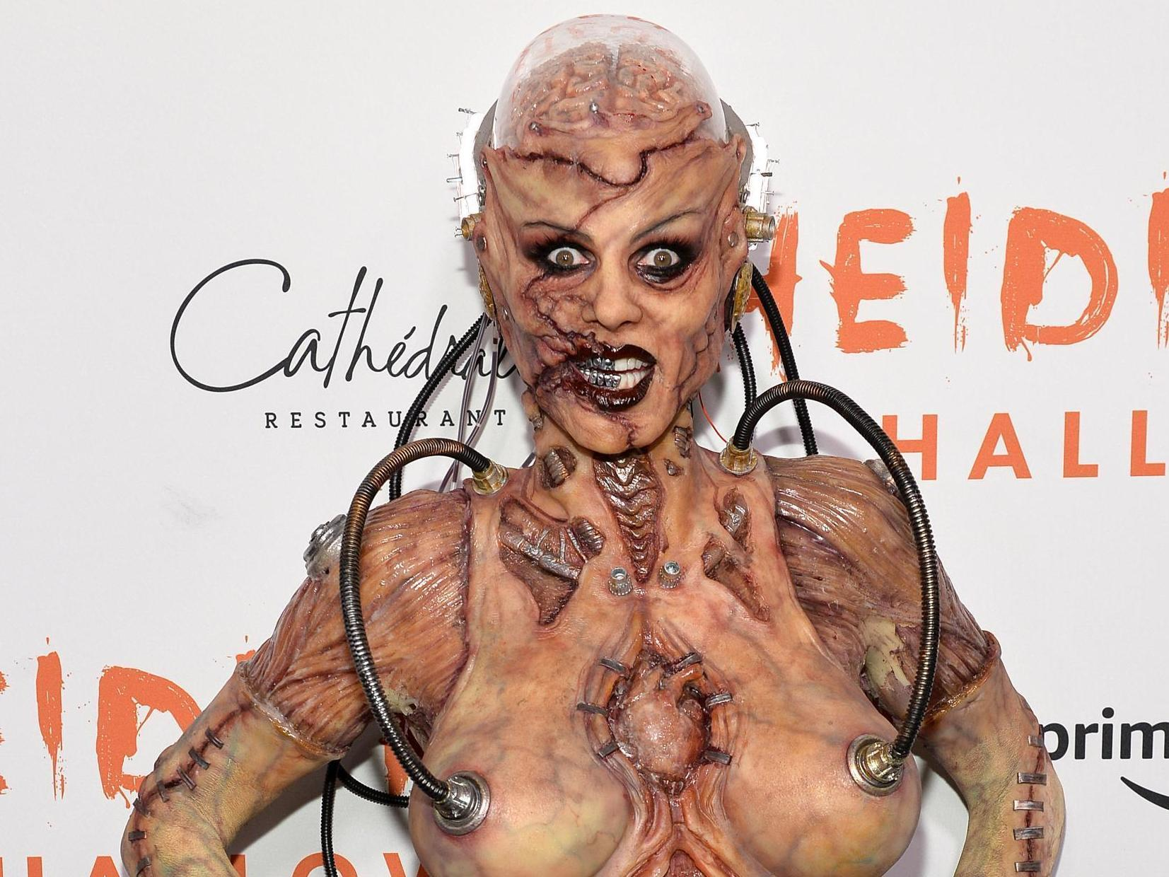 Heidi Klum leads gruesome celebrity Halloween costumes as terrifying alien