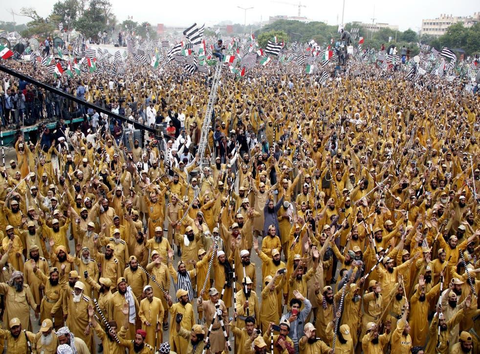 Jamiat Ulema-e-Islam supporters gather in Islamabad