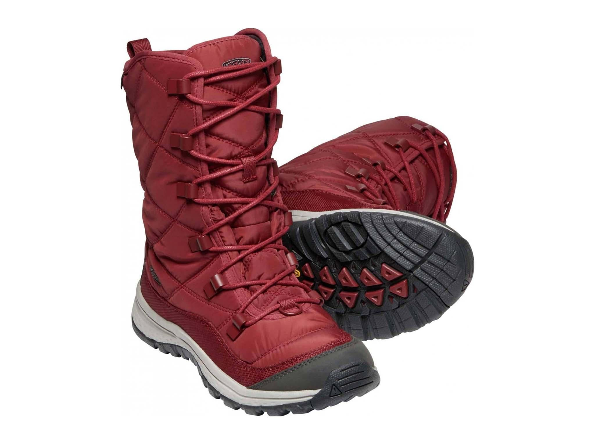 winter boots with laces