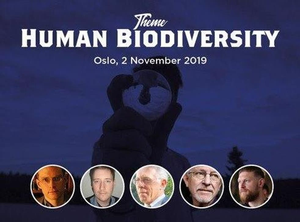 Poster for the Scanda Forum conference on 'Human Biodiversity' in Oslo
