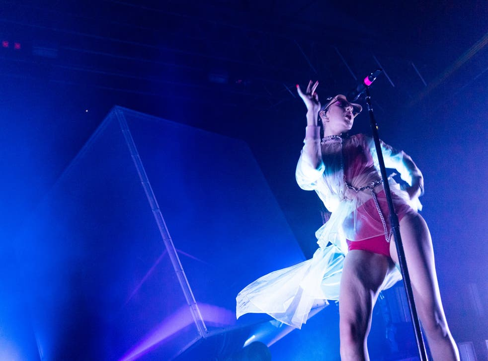 Charli XCX performs in Glasgow, October 2019