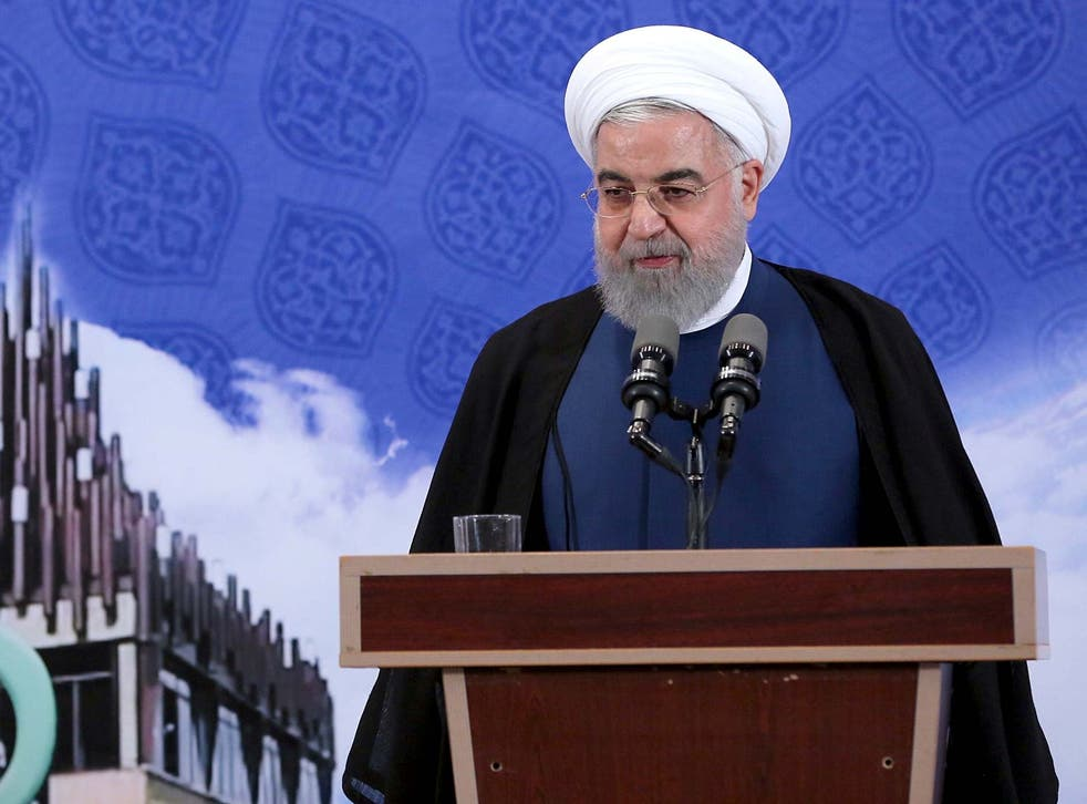 President Rouhani has said Tehran will begin injecting uranium gas into 1,044 centrifuges