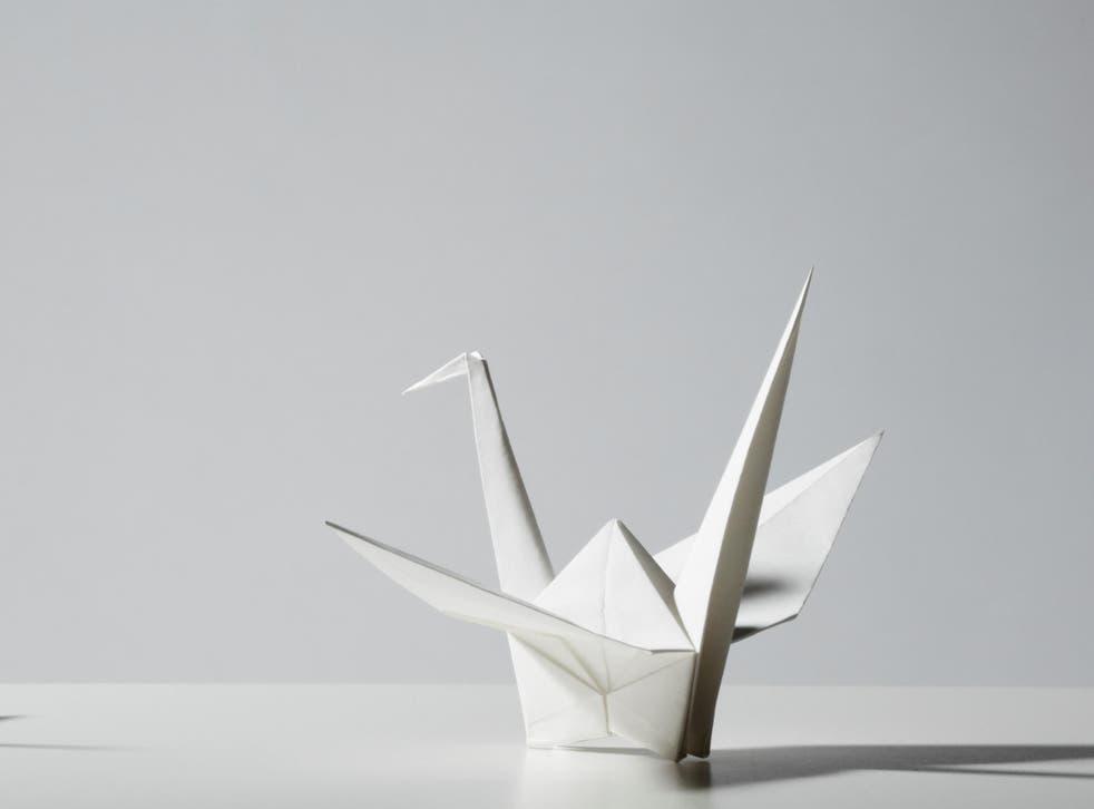 The micro robot borrows its design from an origami bird