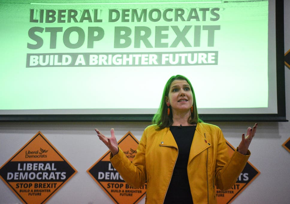 Liberal Democrat leader Jo Swinson, pictured at the launch of former Tory MP Sam Gyimah's election campaign in Kensington, has agreed to the electoral pact after ruling out working with Jeremy Corbyn
