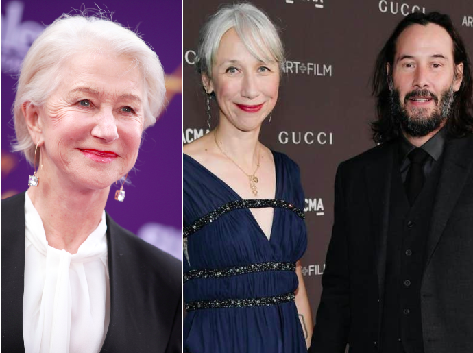 Helen Mirren responds to people thinking she is Keanu Reeves's new girlfriend