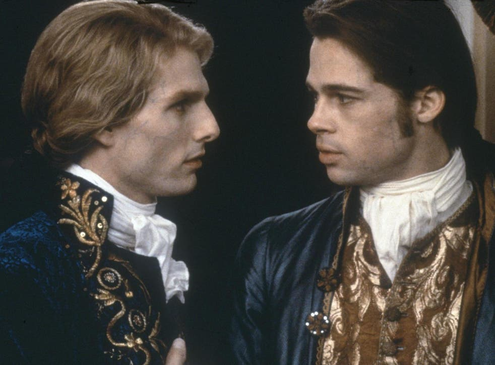 There's a weird charge as Cruise, as Lestat, begins nibbling on Pitt's neck