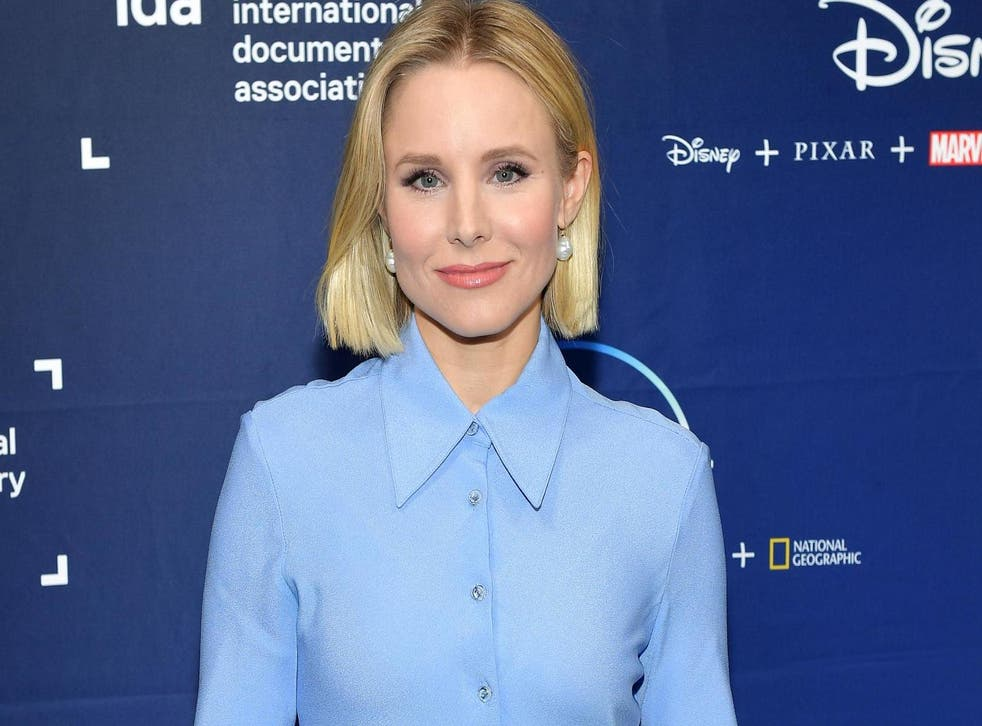 Kristen Bell poses at a Disney+ event on October 18, 2019 in Hollywood, California.