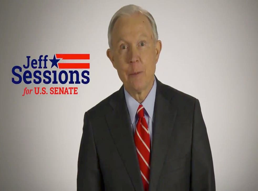 Jeff Sessions speaks in a campaign video posted to social media