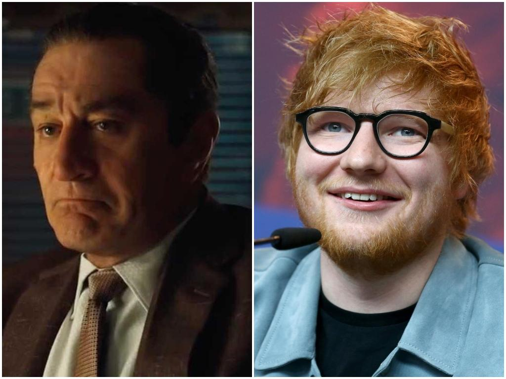 Ed Sheeran is 'related to' Mafia hitman played by Robert De Niro in The Irishman