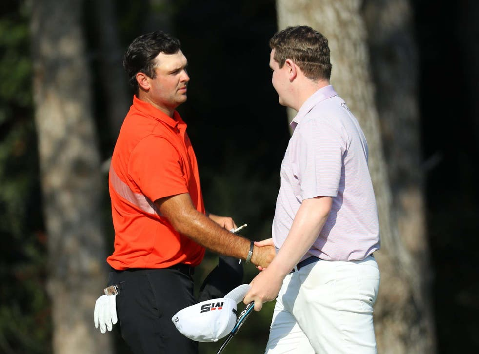 Patrick Reed and Robert MacIntyre embrace after round two in Turkey