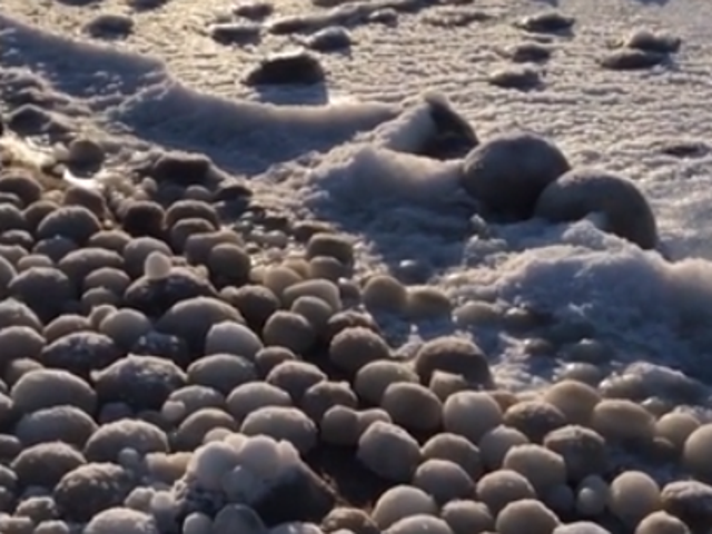 The balls of ice were found on Hailuoto Island, Finland