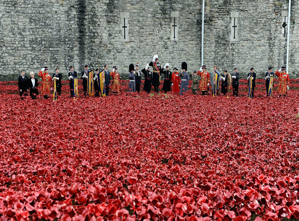 The wearing of a red poppy has been considered a political act in the past