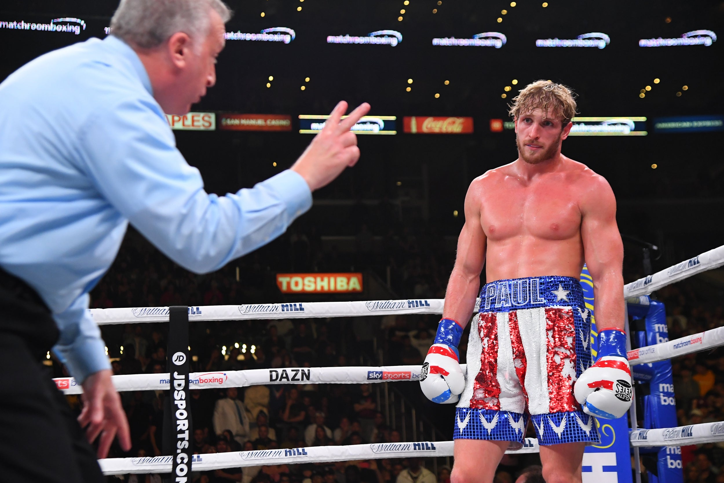 Logan Paul to appeal KSI defeat in YouTube rematch after points deduction for illegal punch
