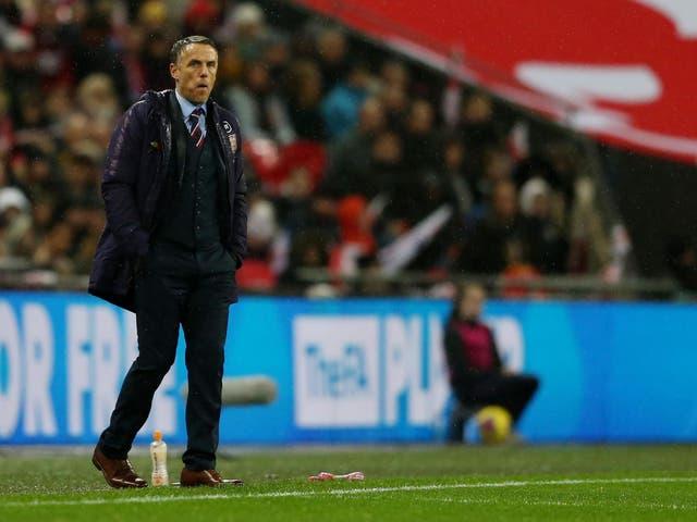 England women's coach Phil Neville
