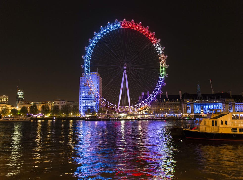 Facebook lights up the London Eye with the colours of political parties to track conversation in the 2015 election