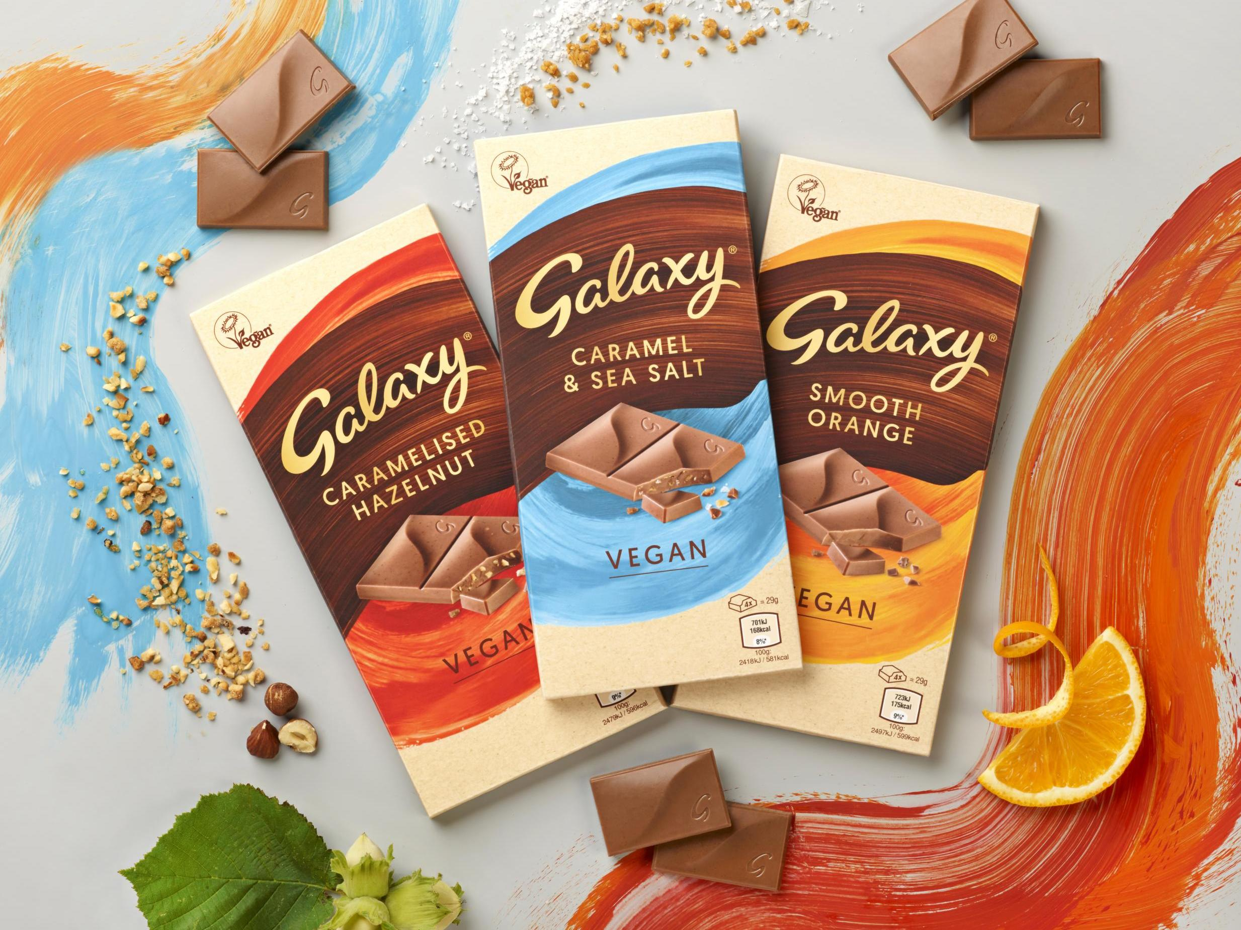 Galaxy launches first ever vegan chocolate bars 1