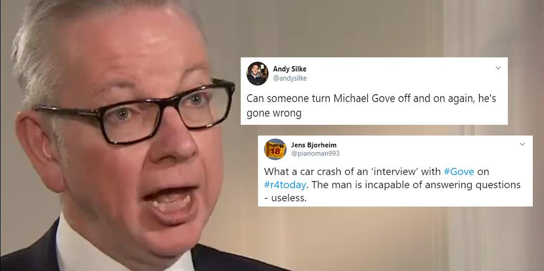 Michael Gove had an absolute nightmare on live radio after dodging questions on Islamophobia and Brexit