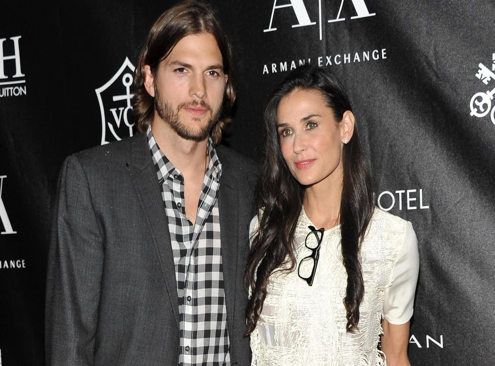 Ashton Kutcher and Demi Moore attend the Stephan Weiss Apple Awards on 9 June, 2011 in New York City.