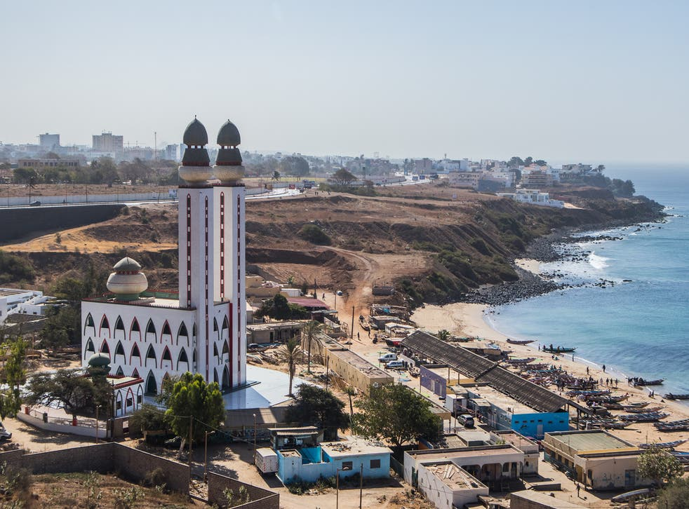 The Mosque of the Divinity towers over the city