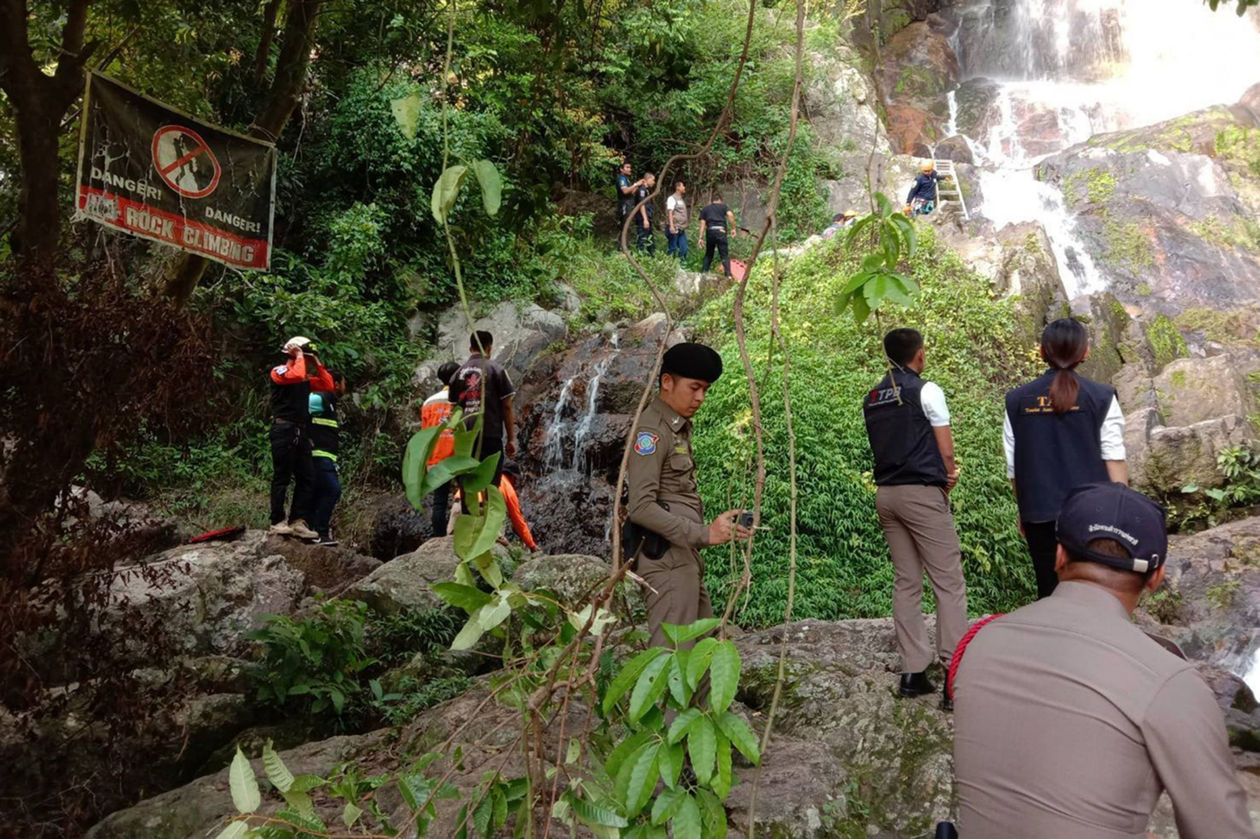 Tourist dies after falling from waterfall while trying to take a selfie in Thailand, police say