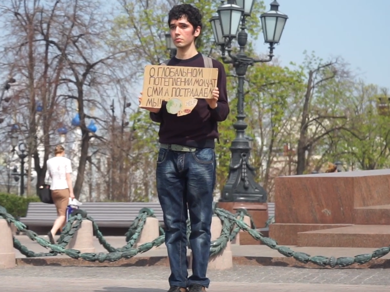 I joined Moscow's secret climate strike movement and this is what I found