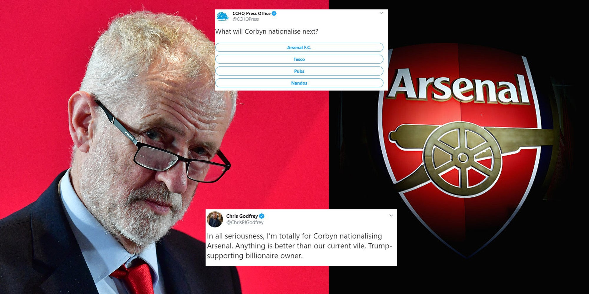 General Election: Arsenal Fans Beg Corbyn To Nationalise