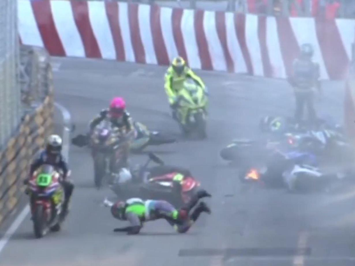 Macau GP 2019: Major crash leaves three in hospital as Michael Rutter awarded grand prix win