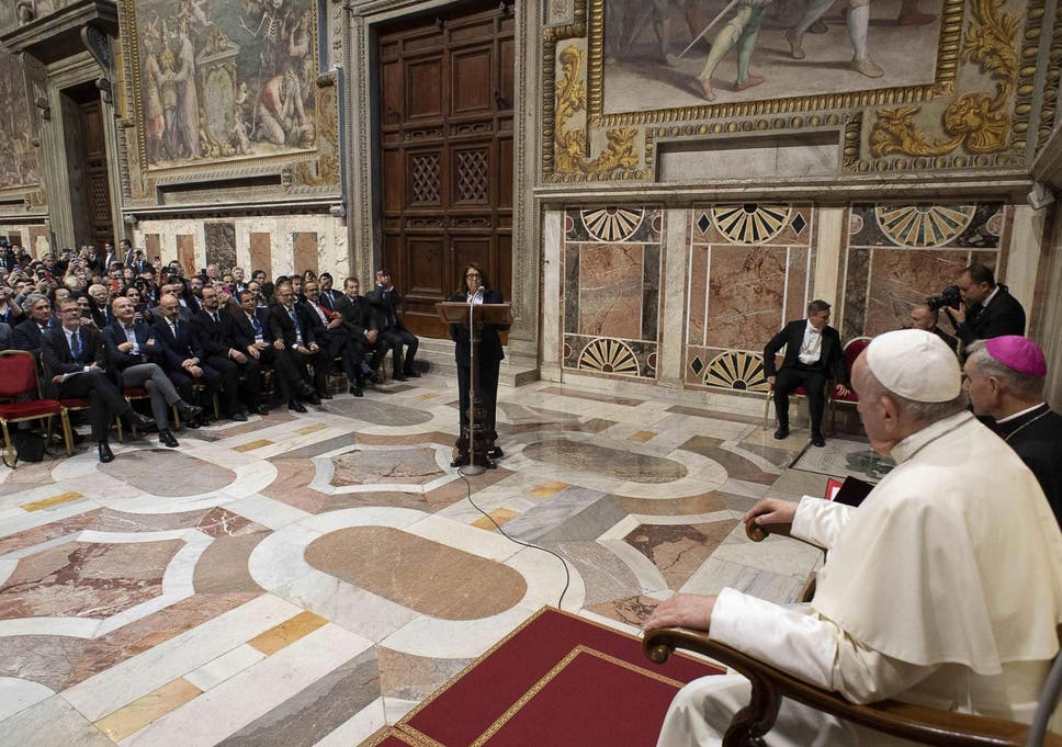 Pope Francis receives audience participants of the World Congress of the International Association of Penal Law on Friday 15 November 2019