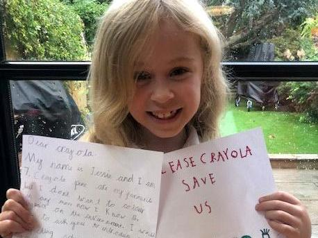 Seven-year-old receives 70,000 signatures on petition asking Crayola to make its colouring pens recyclable