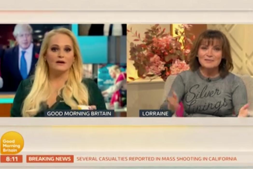 Lorraine Kelly berates Jennifer Arcuri in awkward exchange on Good Morning Britain