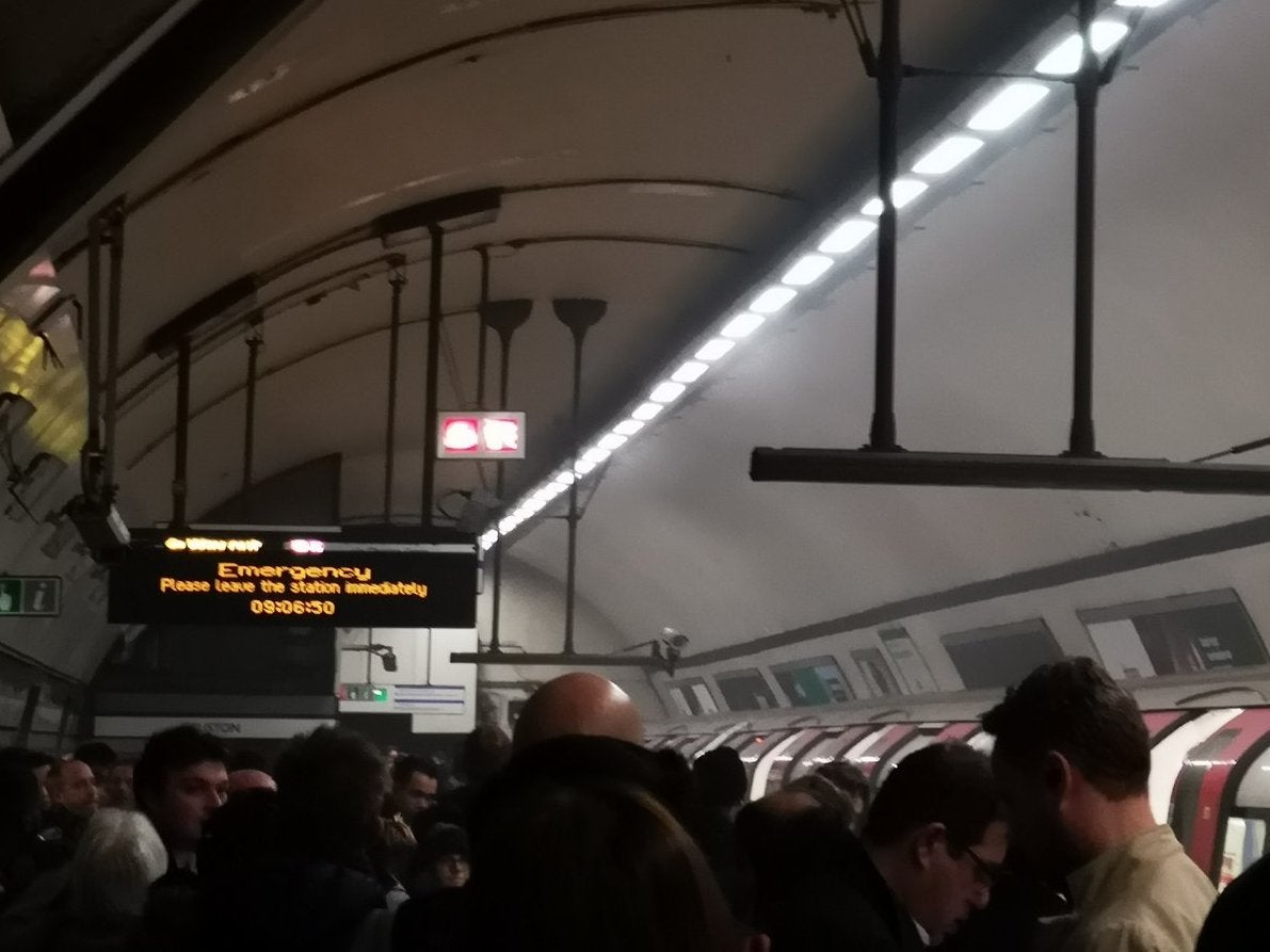 Euston fire: London Underground station evacuated after 'smoke seen on train'