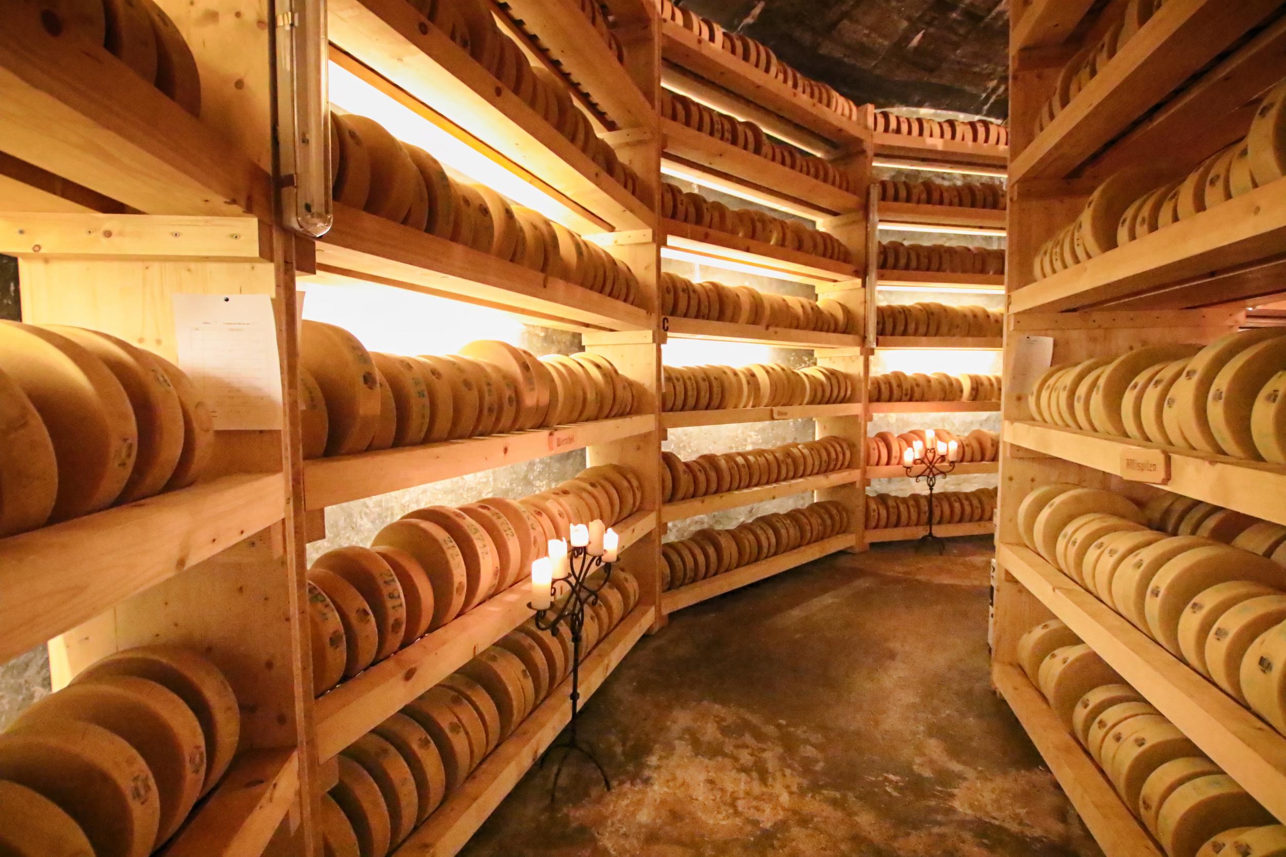 Exploring Switzerland's underground cheese cathedral