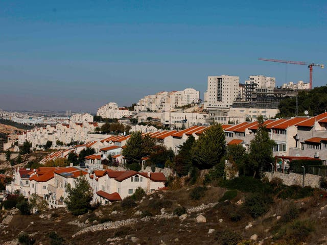 A general view of the Israeli settlement of Efrat near the Palestinian city of Bethlehem south of Jerusalem, in the occupied West Bank